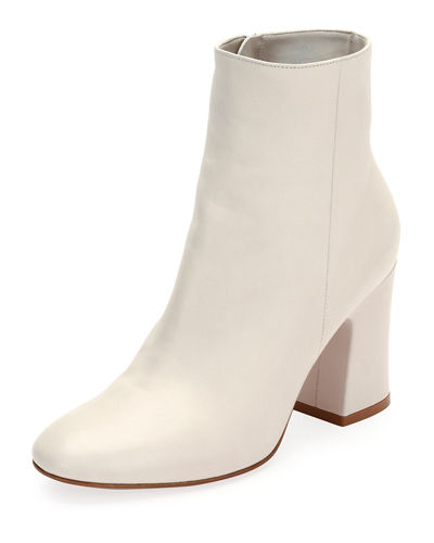 Shelly 85 Napa Leather Block-Heel Boot