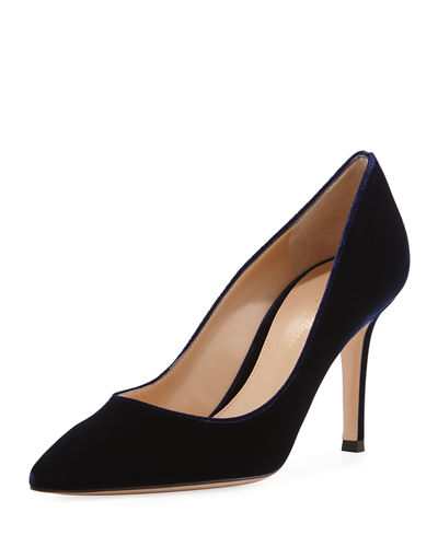 Velvet Point-Toe 85mm Pump