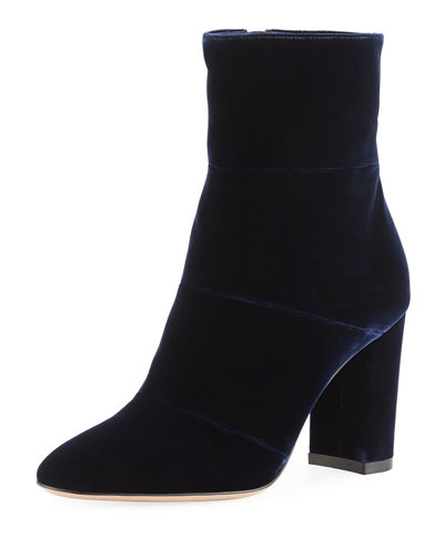 Velvet Block-Heel 85mm Boot