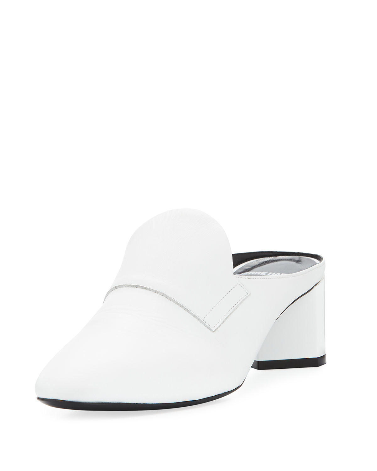 Jacno Leather Block-Heel Mule