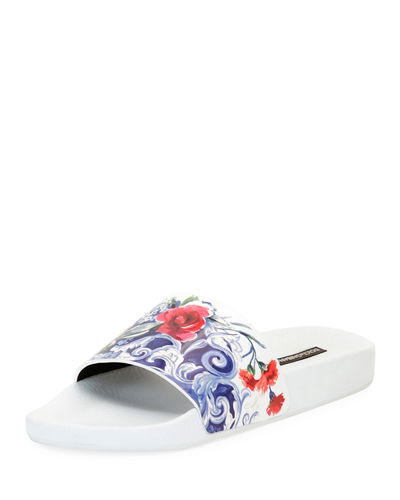 Fast Delivery Sale Online Cheap Sale 2018 New Dolce & Gabbana PVC Slide Sandals Cheap Pictures Good Selling For Sale 1Vi2C