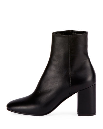 f6fc82011f0 Balenciaga Leather Block-Heel Ankle Boot