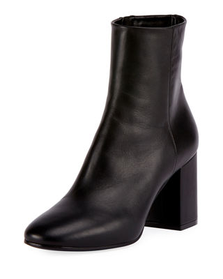 Balenciaga Leather Round-Toe Ankle Boots
