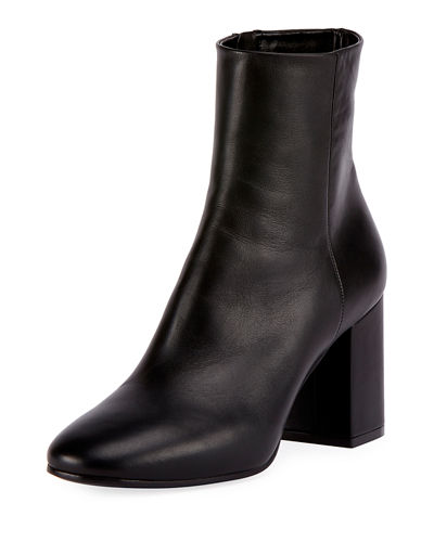 Balenciaga Leather Round-Toe Ankle Boots Latest Sale Online o76nL2
