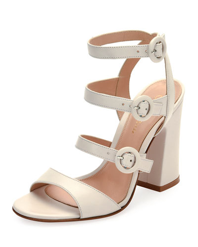 Mali Leather Multi-Strap Block-Heel Sandal