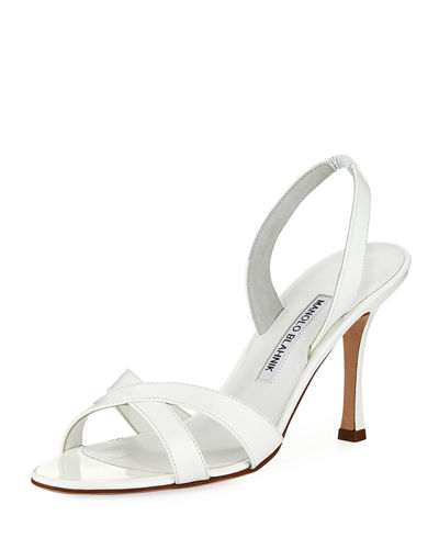 Callasli Patent Leather Slingback Sandals