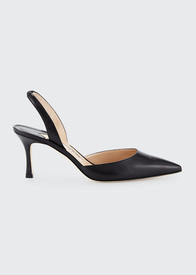 d2f2f31de6327 Manolo Blahnik Carolyne Shoes. Carolyne Leather Mid-Heel 70mm Halter Pump