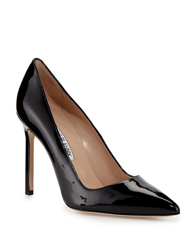 Manolo Blahnik BB Patent 105mm Pointed-Toe Pump
