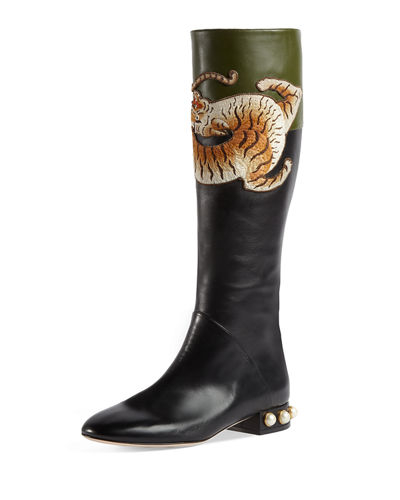 HIal6NBhKd Pam Tiger-Embroidered Tall Boot at0iX
