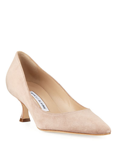 Srila Suede Low-Heel Pumps