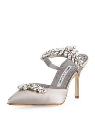 Manolo Blahnik Crystal-Embellished Slingback Pumps