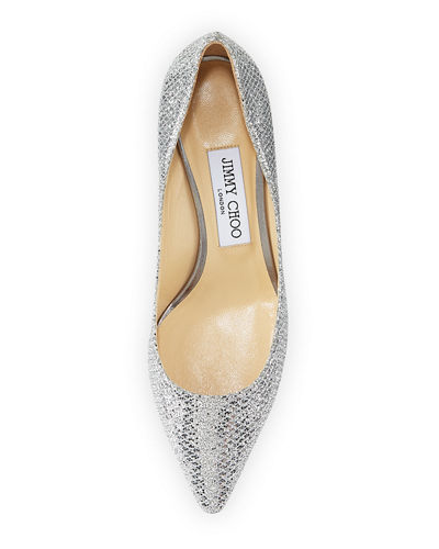Romy Glitter Pointed-Toe 60mm Pump