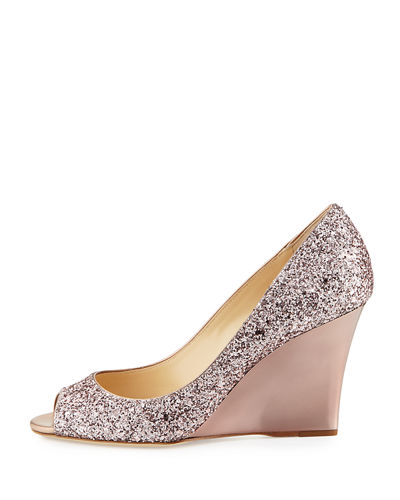Jimmy Choo Baxen Glitter Wedges cheap marketable cheap sale brand new unisex YPKNC3U2
