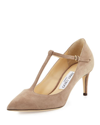 Jimmy Choo Suede T-Strap Pumps