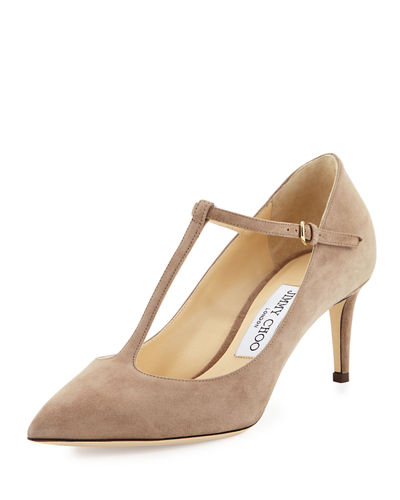 Jimmy Choo Suede T-Strap Pumps Real FTHWmC6