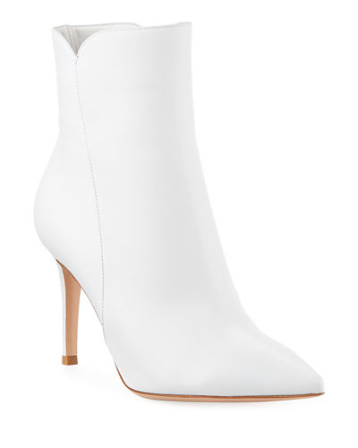 Gianvito Rossi Levy Notched Leather 85mm Bootie