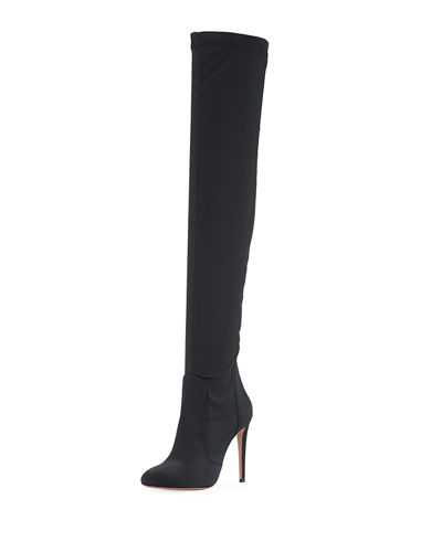 Aquazzura Suede Over-The-Knee Boots in China online u6xK9AO3