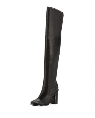 WOMEN'S MARS LEATHER OVER-THE-KNEE BOOTS