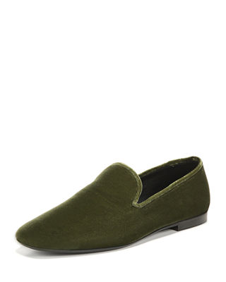 Bray Velvet Loafer, Forestberr, Dark Willow