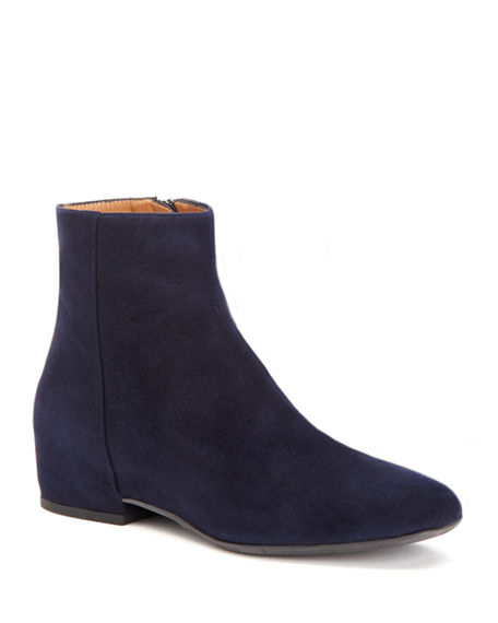 Aquatalia Boots ULYSSA WATERPROOF SUEDE ANKLE BOOTS WITH HIDDEN WEDGE