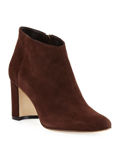 Brusta Suede Block-Heel Boot
