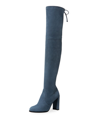 Prada Over-the-knee Velvet Boots lgz5Rdi9