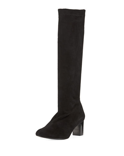 a9bd408c238 Robert Clergerie Palace Stretch-Suede Tall Boot