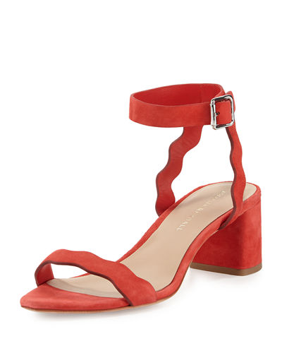 Visa Payment Online Clearance Best Loeffler Randall Suede Ankle Strap Sandals Sale Wholesale Price Clearance Latest Collections fbP2l