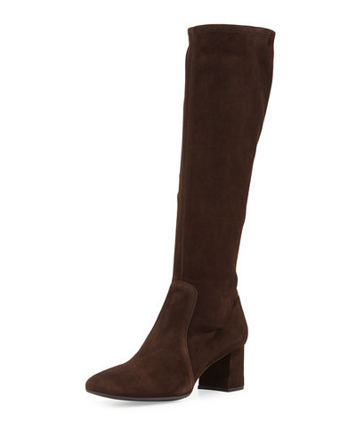 Stretch Suede Knee Boot