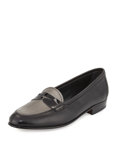 Gravati FLAT LEATHER PENNY LOAFER