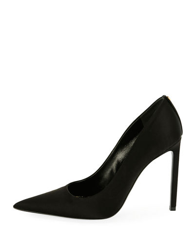 Pointed-Toe Satin 105mm Pump