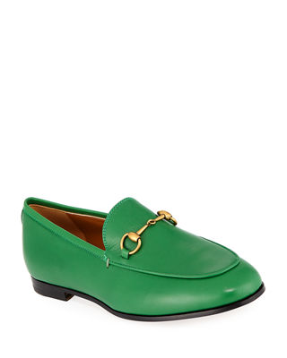 JORDAAN HORSEBIT-DETAILED LEATHER LOAFERS