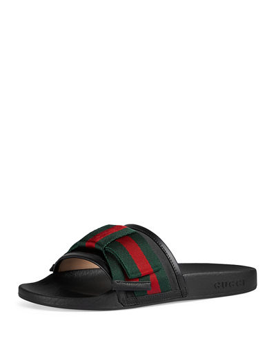 dc59dda94 Gucci Flat Pursuit Slide With Bow