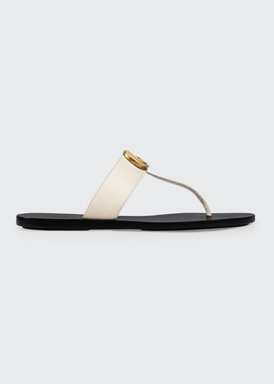 Marmont Flat Marmont Leather Thong
