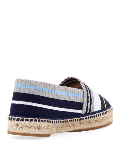 Stretch-Knit Metallic Espadrille