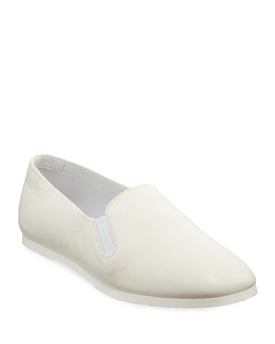 Grace Leather Slip-On Flat Loafers