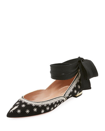 Bliss Ankle-Wrap Ballerina Flat
