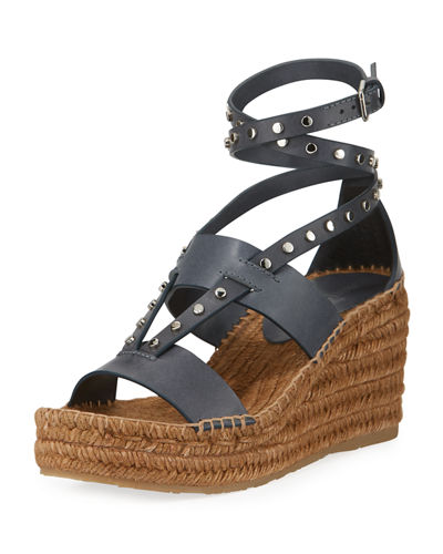 Jimmy choo Women's Danica Studded Wedge Espadrille 19o1i