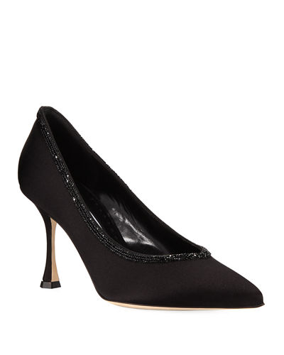 Urgenzacri Crystal-Trim Satin Pump