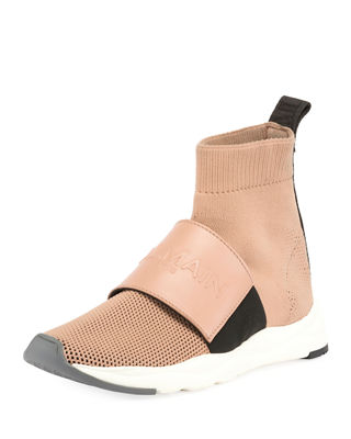 Cameron Mesh Running Sock Sneaker in Neutrals
