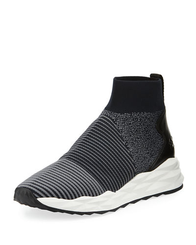 Spot Stretch-Sock High-Top Sneaker