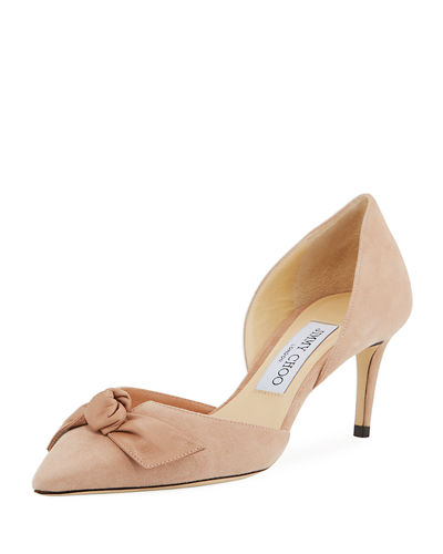 Twinkle Suede Bow d'Orsay Pump
