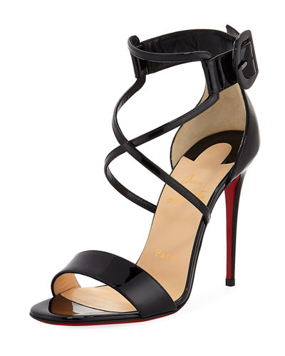 Choca Patent Red Sole Sandal