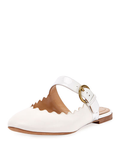 Chloe Lauren Flat Leather Mary Jane Slides