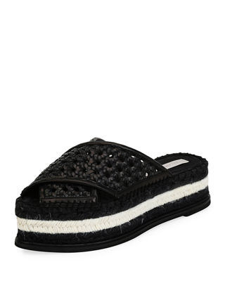 Stella McCartney Wicker Flatform Slides