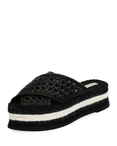 Stella McCartney Wicker Flatform Slides cUpZKHRQ