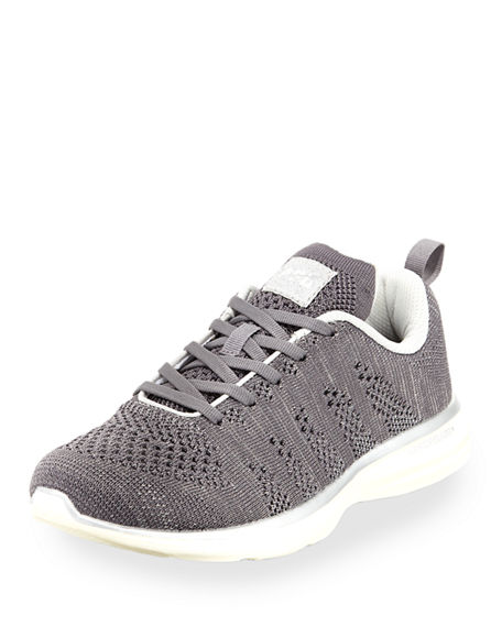 APL Athletic Propulsion Labs Women's TechLoom Pro Metallic Knit Lace Up Sneakers 0SD2X3TwPF