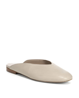 Women'S Levins Leather Mules, Taupe