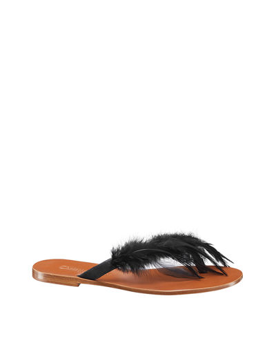 """Ethnie"" Feather Thong Sandal"