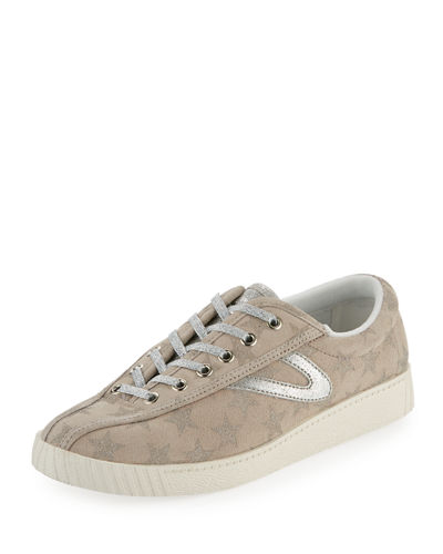 Galaxy Suede Metallic-Star Low-Top Sneaker